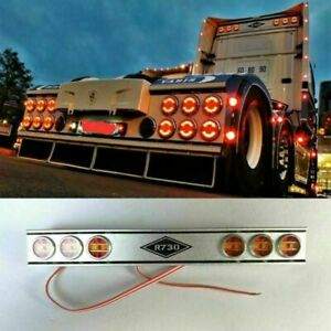 Fuer-Tamiya-SCANIA-R620-R470-R730-1-14-RC-Top-Back-LED-Roof-Light-Bar-Lichtleiste