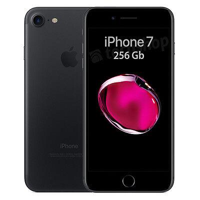 """Apple • iPhone 7 • 256Gb Black • GARANZIA 2 ANNI • Nero Opaco 4.7""""12Mpx 4G NUOVO"""