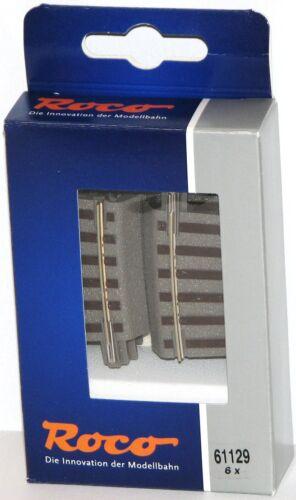 Roco H0 61129-S gebogenes Gleis R2 geoLine 6 Stück OVP - NEU 7,5°