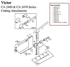 Victor CA2460 & CA2470 Cutting Torch Large Rebuild/Repair Parts Kit 0390-0057
