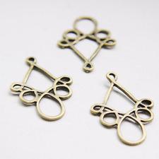 20pcs Antique Brass Tone Base Metal Earring Findings-38x25mm (26359Y-O-38B)