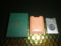 Pheasant by R.D.Gomez Stainless Steel Cigar Cutter Beige  Leather