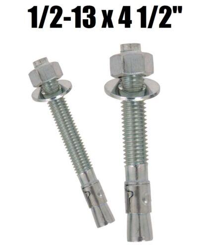 "1//2-13 x 4-1//2/"" Concrete Wedge Anchor Zinc Plated Qty 25"