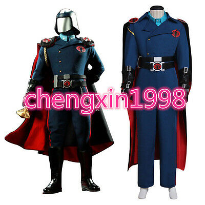 G.I.Joe Cobra Commander Cosplay Costume with cloak custom made tailored AA.0649