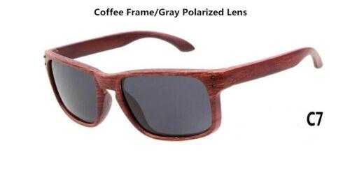 2017 Top Quality Wood Grain Polarized Mens Sunglasses Vintage Style womens Sun