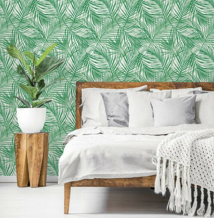 Peel Stick Wallpaper Tropical Palm Green By Opalhouse 198 X 20 For Sale Online