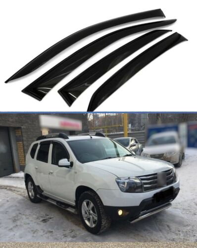 For DACIA RENAULT DUSTER 2009-2019 Window Visors Sun Rain Guard Vent Deflectors