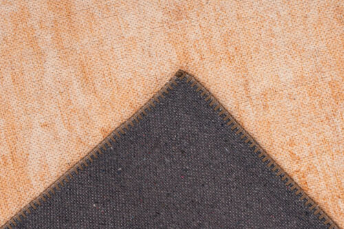 Teppich Vintage Used Look Verwaschen Washed Design Wohnzimmer Terra Orange
