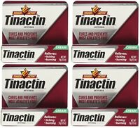 4 Pack - Tinactin Antifungal Cream - Cures Most Athlete's Foot .5oz Each on sale