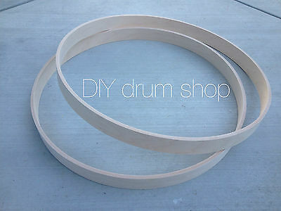 "20"" BASS DRUM HOOPS WITH ROUND OVER AND RELEIF CUT. HIGH QUALITY MAPLE! 1 PAIR"
