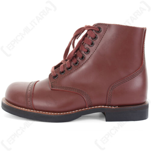 Leather Low Boot US Army WW2 Repro 1939 Brown All Sizes American Service Shoes