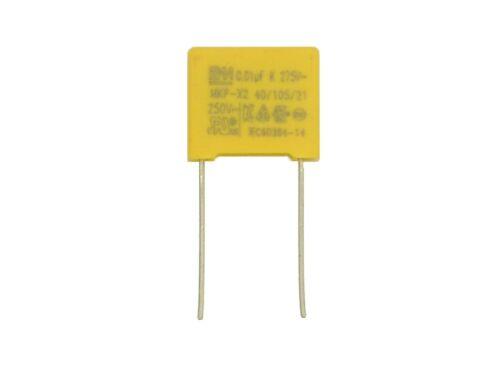 RM10mm 0,01µF,uF,AC,250V~ Y553 1x BM MKP Kondensator 10nF X2 275V~ VAC