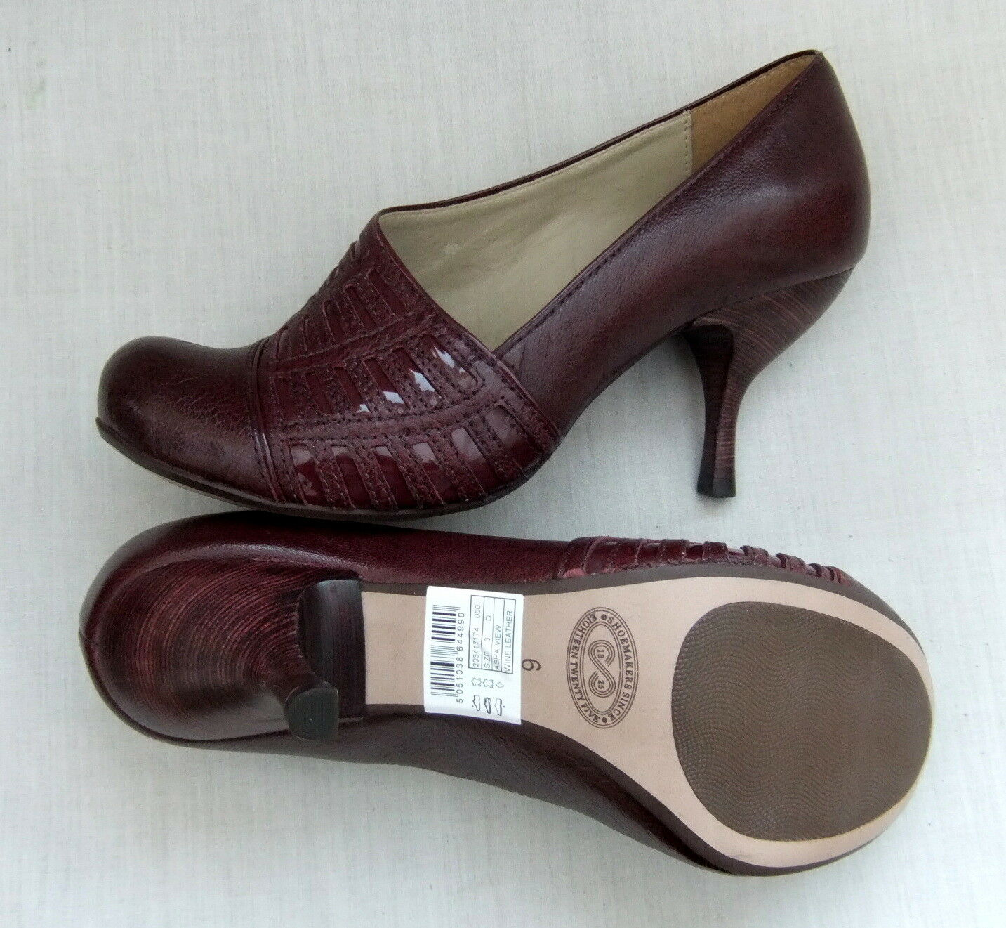 NEW NEW NEW CLARKS HANDCRAFTED ASHA VIEW damen BORDEAUX LEATHER schuhe b7b3fc