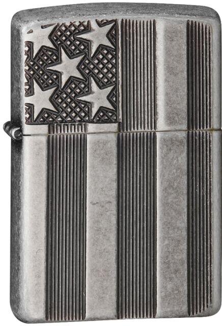 Zippo 2015 2016 Choice Catalog Flag Armor Antique Silver Patriotic 28974 NEW