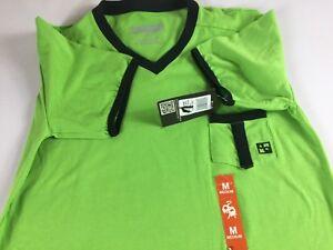 Anthony-Quintana-Shirt-Mens-Medium-Athletic-Stretch-Fit-Green-V-Neck-Pocket-Tee