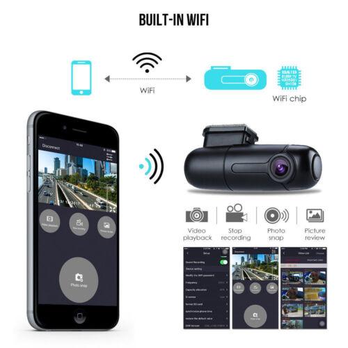 B1W Mini 360° Rotate Parking WiFi Capacitor Car 1080P Dash Cam Recorder Camera