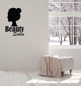 Vinyl Decal Wall Sticker Beauty Salon Girl Silhouette Hair Unique Gift G095 Ebay