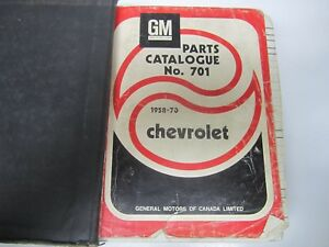 1970 Chevy Illustrated Parts Book Caprice Bel Air Impala Biscayne Catalog 70