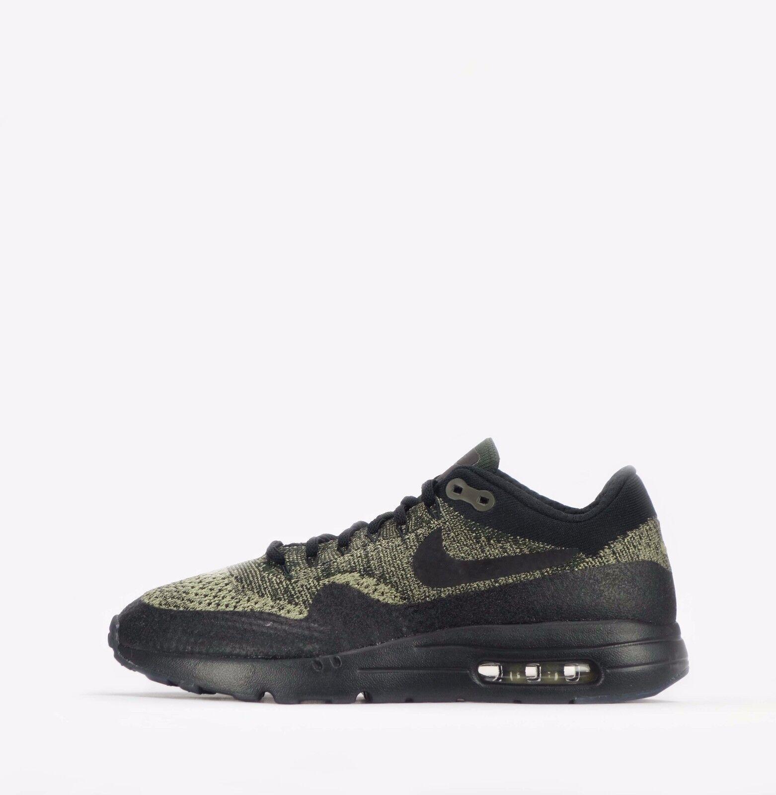 Nike Air Max 1 Ultra Flyknit Herren Schuhe in Neutral Olive schwarz