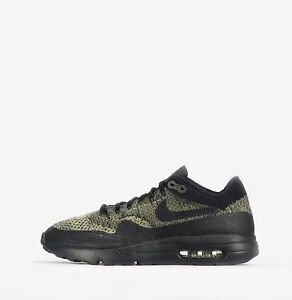 Nike Air Max 1 Ultra Flyknit Men s Shoes in Neutral Olive Black  b8025455c