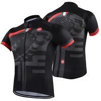 New Men Bike Cycling Jersey Short Sleeve Sweater Polyester Size S M L XL 2XL 3XL