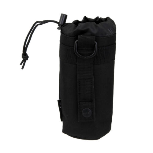 Black Waterproof Water Bottle Holder Bag For Tactical Military Molle System