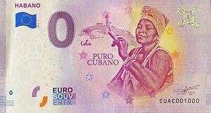 BILLET-0-EURO-HABANO-PURO-CABANO-CUB-LA-HAVANE-2019-NUMERO-1000