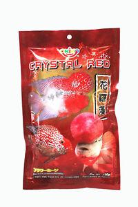Amical Frayé Haute Qualité Flowerhorn Cichild Fish Food 100 G Pellet Taille L Rouge En Cristal-afficher Le Titre D'origine