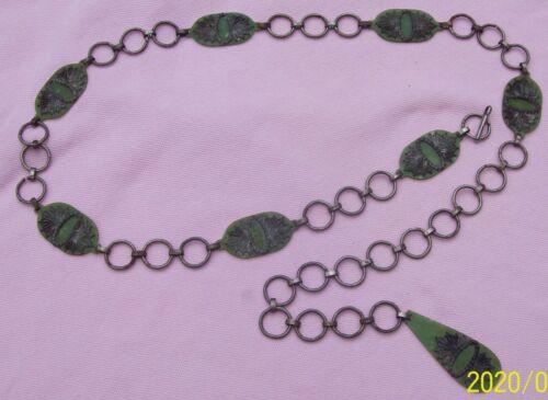 1920s Flapper Belt Celluloid Filigree Chain Link Belt