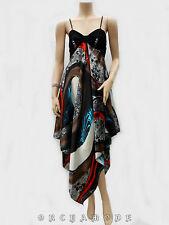 Robe déstructurée T UNIQUE = 38 40 42 44 46 M L XL Satin collier Fête NEUF Dress