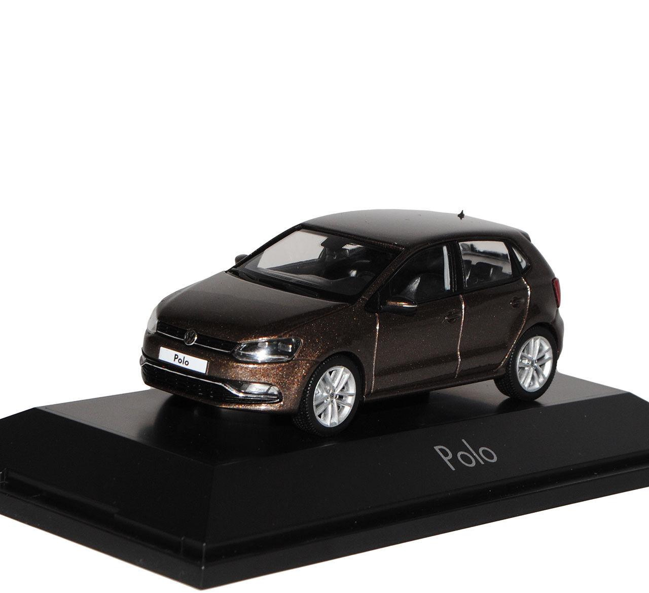 VW Volkswagen Polo marron 5 Türer Modell Ab 2009 2009 2009 Ab Facelift 2014 V Typ 6C 1 43.. 35a4dc