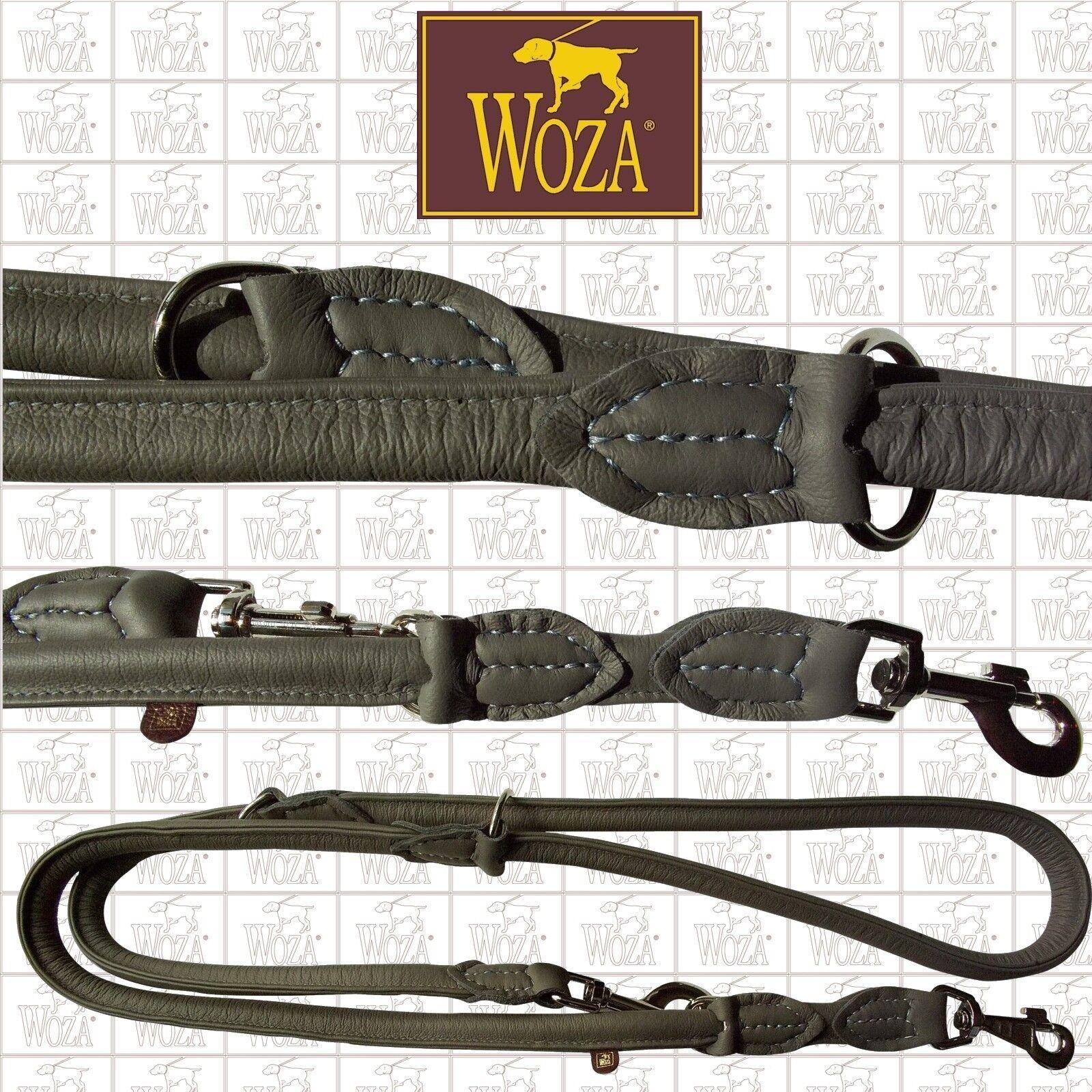 WOZA Premium Premium Premium Rundgenähte Hundeleine Vollleder Handgenäht Soft Rindnappa  SRFGR1Z  | Tadellos  6b7432