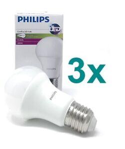 Details zu PHILIPS LED Lampe CorePro 12,5 W = 100W Bulb Matt E27 4000 K 3 Stück