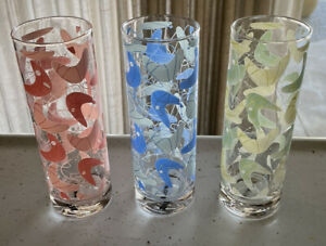 Set of 3 SOURPUSS Multicolor Boomerang Atomic Tall Cocktail Glasses Tumblers