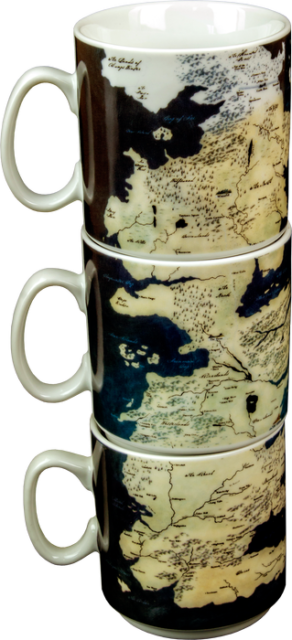 Game of Thrones - Westeros Stacked Mugs (Set of 3)