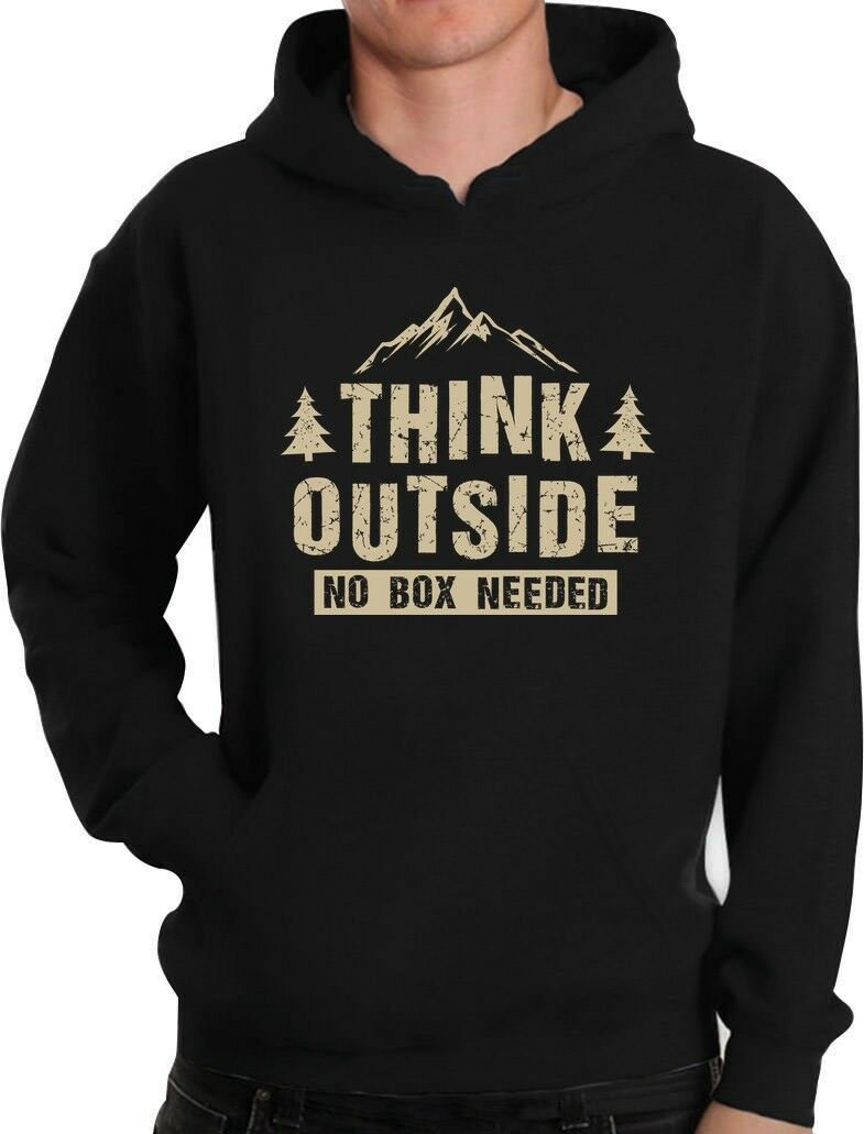 Camper Gift Think Outside No Box Needed Funny Camping Hoodie