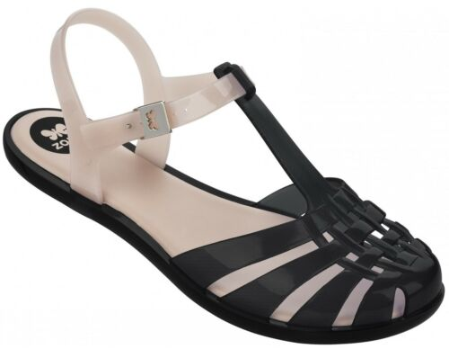 Girls Casual Classic Jelly Sandals Zaxy Kids Dream White Black UK Size 8-1