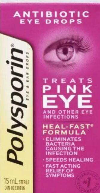 Polysporin Antibiotic Pink Eye Drops 15ml Ebay