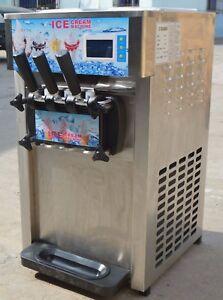 Commercial-110V-Soft-Serve-Ice-Cream-Machine-Countertop-3Flavor-Ice-Cream-Maker