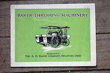 ORIGINAL Baker Threshing Machinery Catalog (Number 27), Very Good Condition
