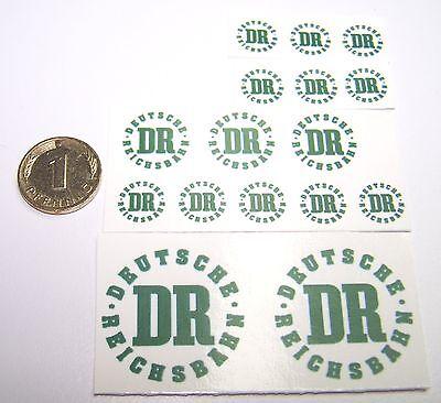 Abziehbilder Decals mit klassischen Motiven aus DDR Zeit DR DEUTSCHE REICHSBAHN