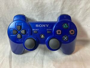 Genuine-OEM-Sony-PlayStation-3-PS3-Sixaxis-Dual-Shock-3-Controller-Blue-CECHZC2U