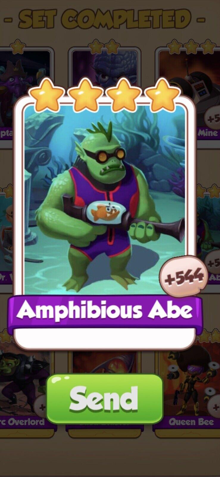 Coin Master Supervillains, Amphibious Abe Card (Fast Sending)