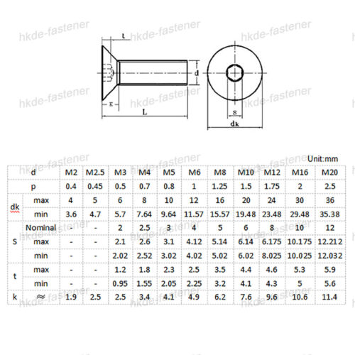 Zylinderkopf Schrauben Aluminium Senkkopf Innensechskant M3* 7//10mm Alu DIN 7991