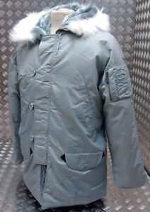 US-N3B-Military-Style-ECW-Snorkel-Parka-Grey-MOD-Scooter-Bikers-All-Sizes-NEW