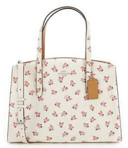 232886179b42 Image is loading Coach-Floral-Bloom-Charlie-Carryall-Tote-Leather-Handbag-