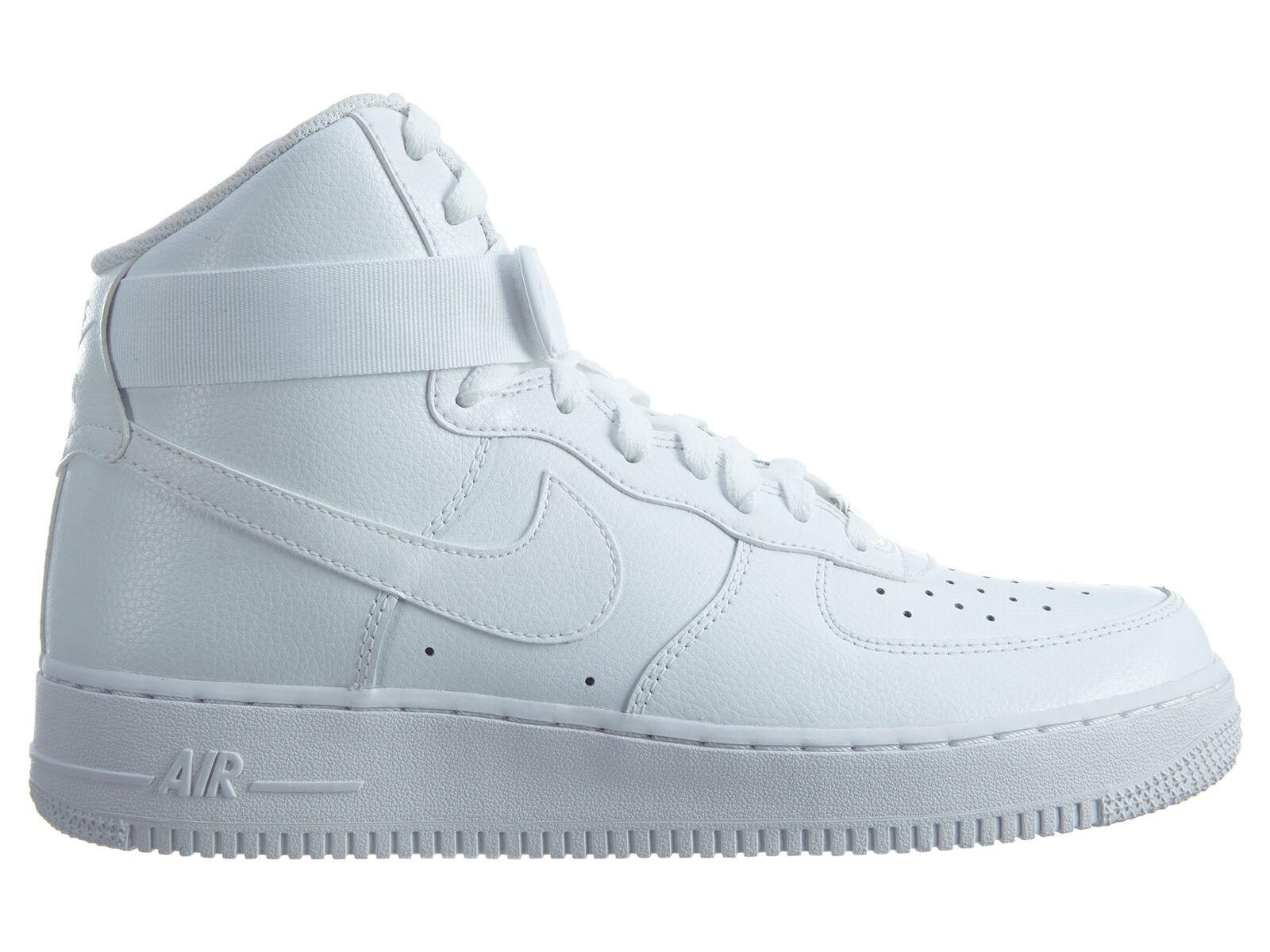 Nike air force di alto 2007 Uomo 315121-115 di pelle bianca, scarpe da ginnastica taglia