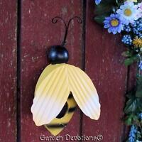 Adorable Big Bumble Bee Birdhouse Wall Decor Metal It's All The Buzzzz