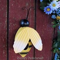 Adorable Big Bumble Bee Birdhouse Wall Decor Metal It's All The Buzzzz