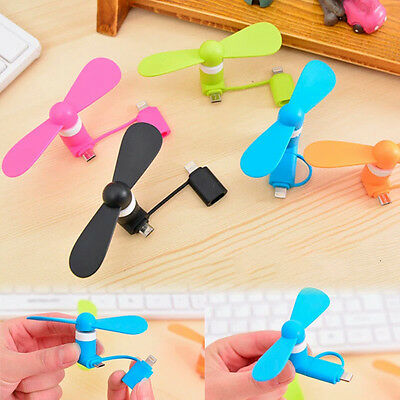Portable Mini Combo Cell Phone Mobile Dock Fan USB Fan Android Apple iPhone